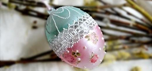 Как сделать прозрачное яйцо из ниток